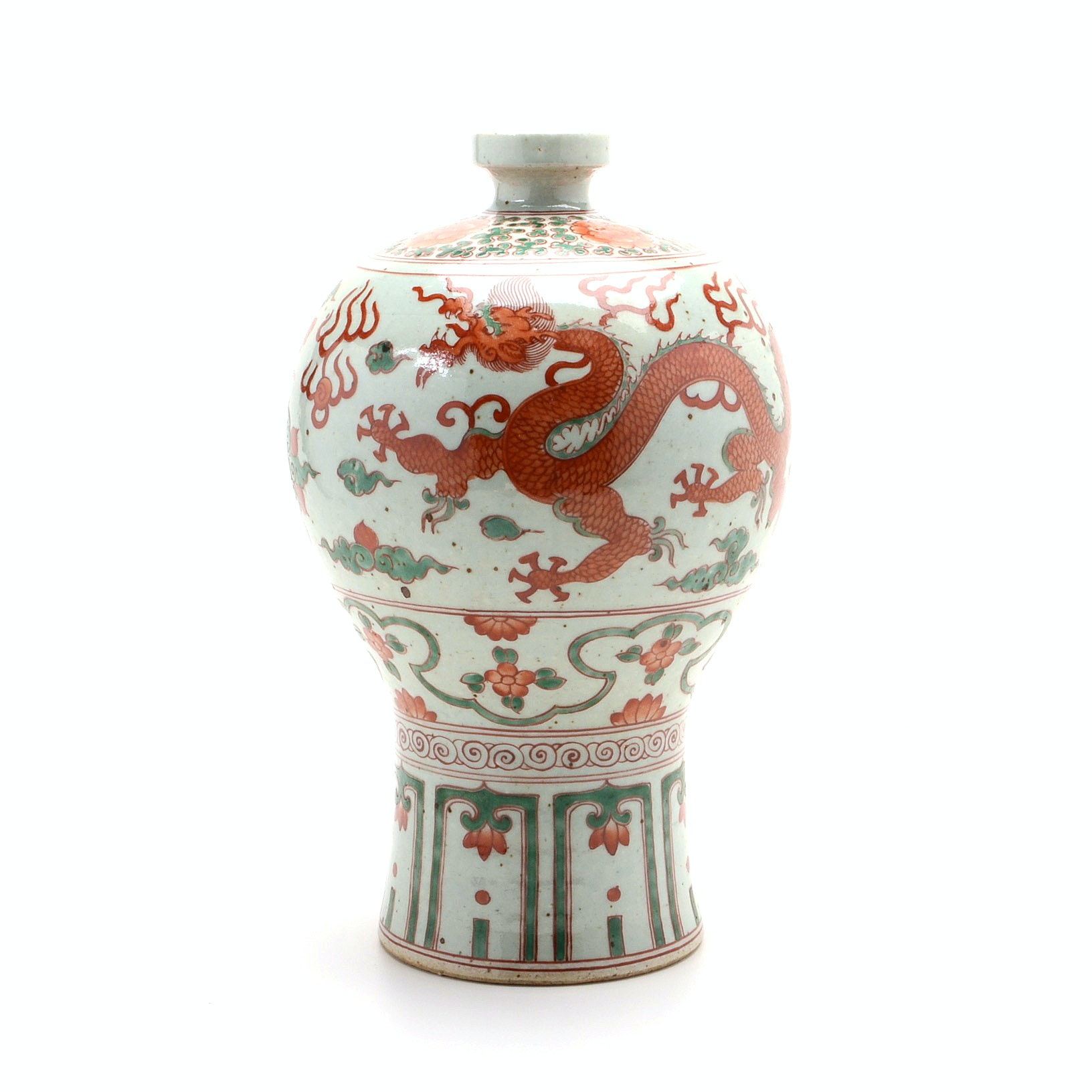 Chinese Decorative Phoenix and Dragon Hand Painted Vase