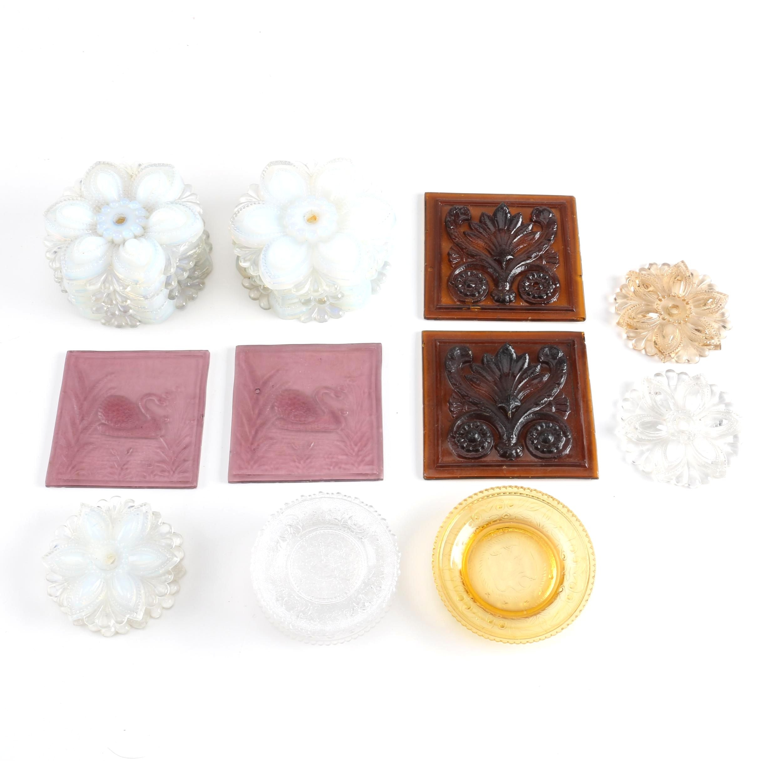 Ornate Glass Curtain Tie Backs and Coasters