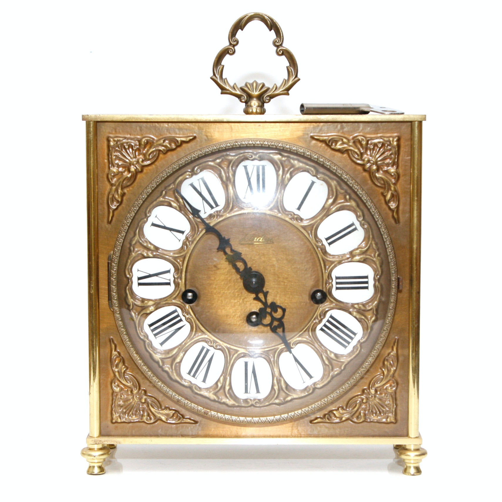 Linden Brass Chiming Mantel Clock