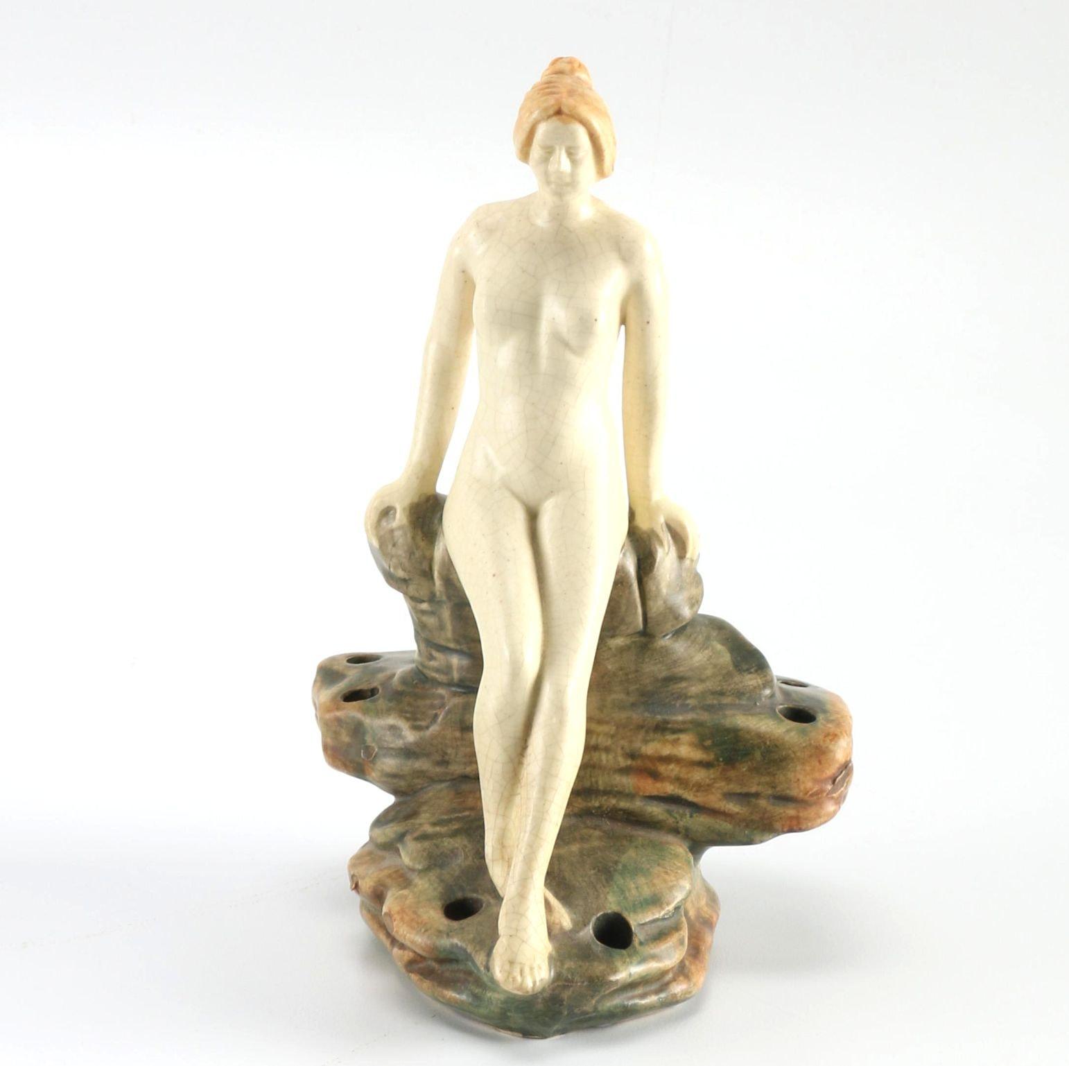 "Weller ""Muskota"" Nude Pottery Flower Frog"