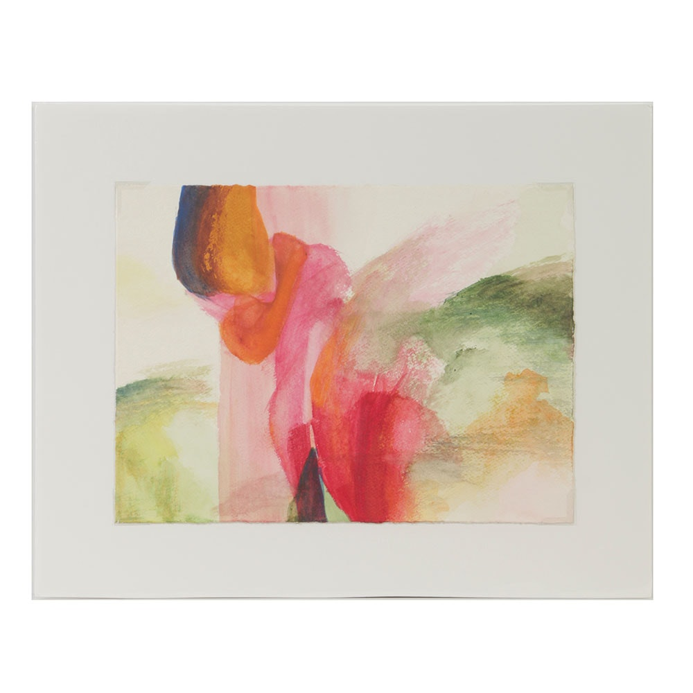 "Beth Hertz Watercolor Painting on Paper ""Untitled III"""