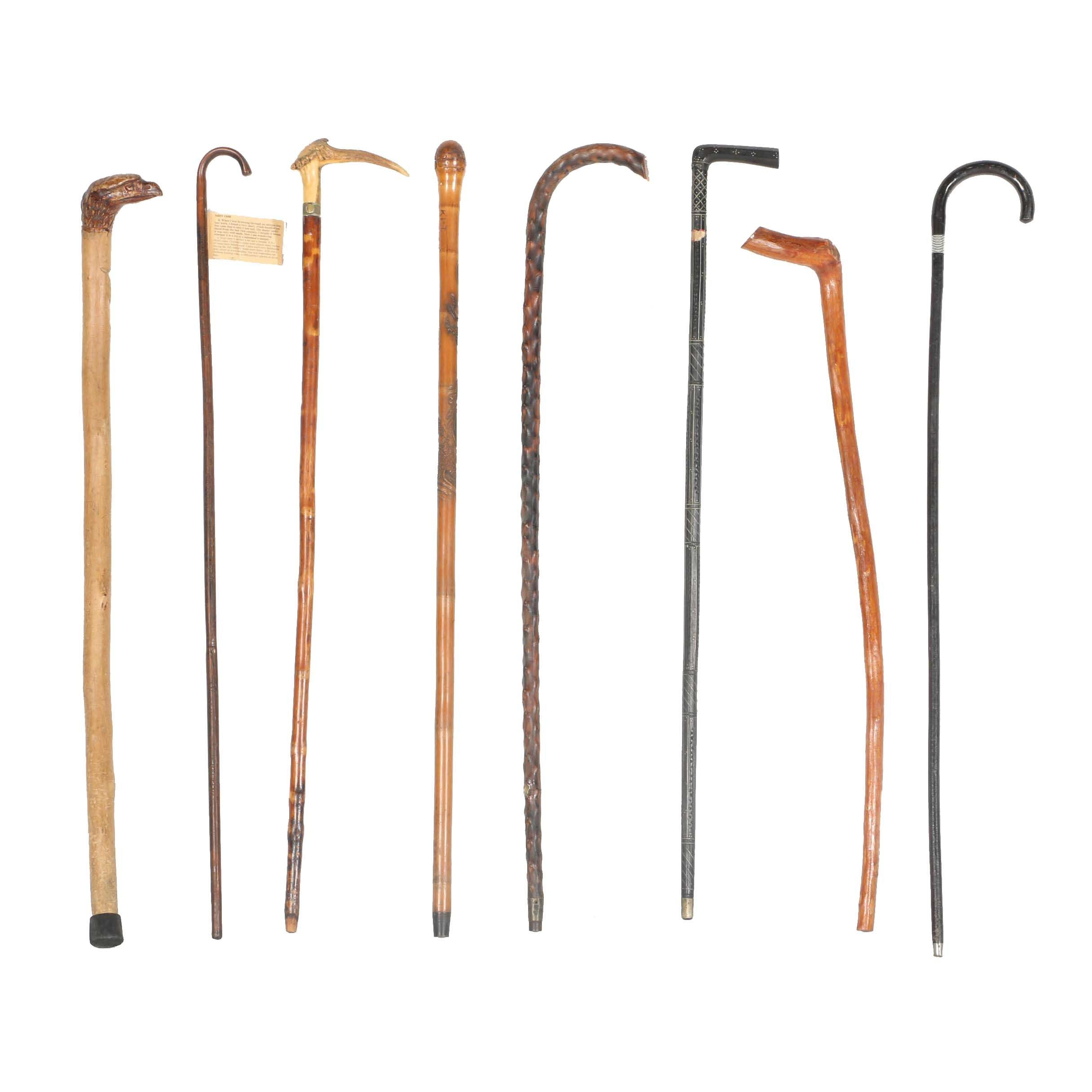 Wood Hand Carved Walking Canes and More