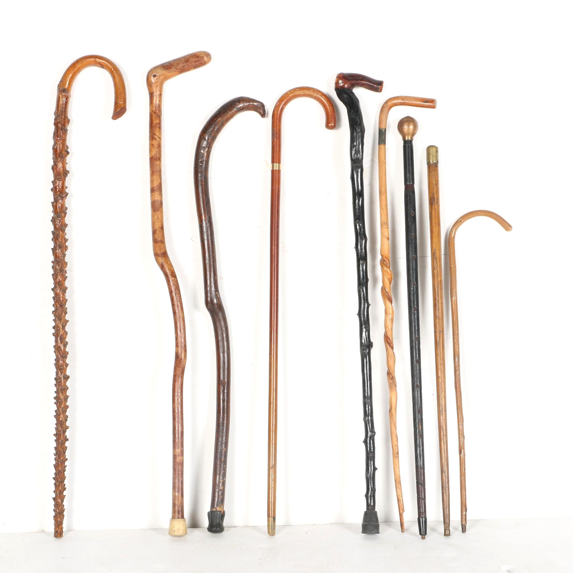 Wooden Walking Sticks and Canes