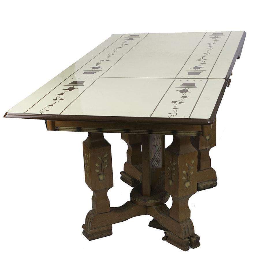Mid-Century Enamel Top Kitchen Table