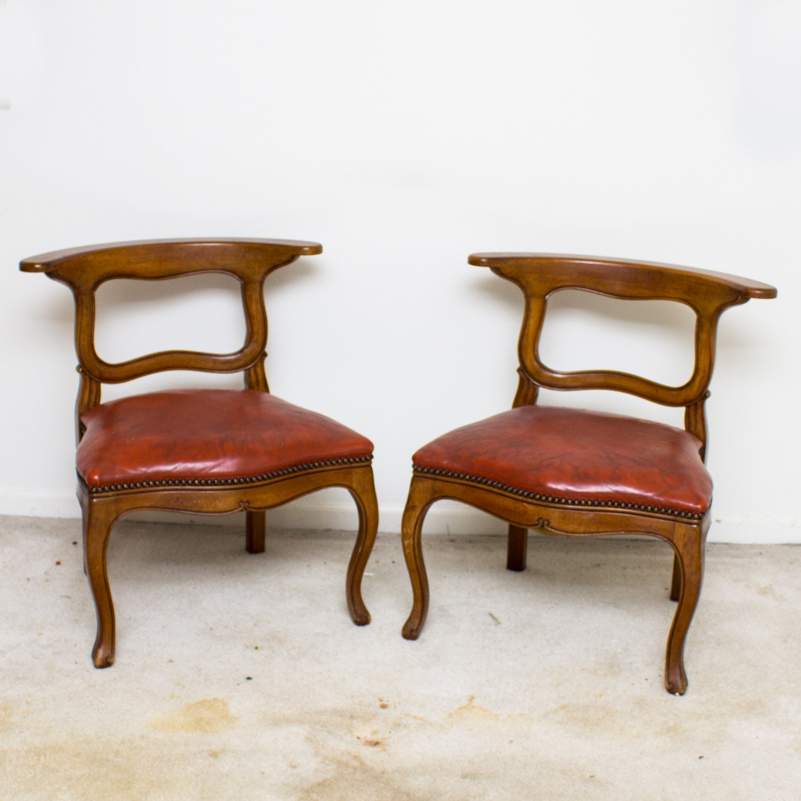 Merveilleux Vintage Mahogany Side Chairs By Colonial Manufacturing Company ...
