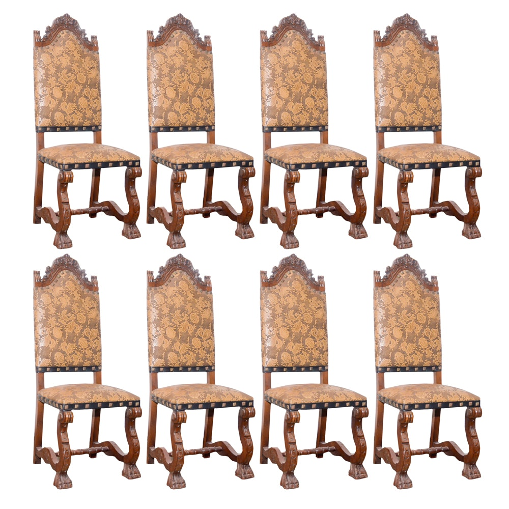 Gothic Revival Style Upholstered Chairs