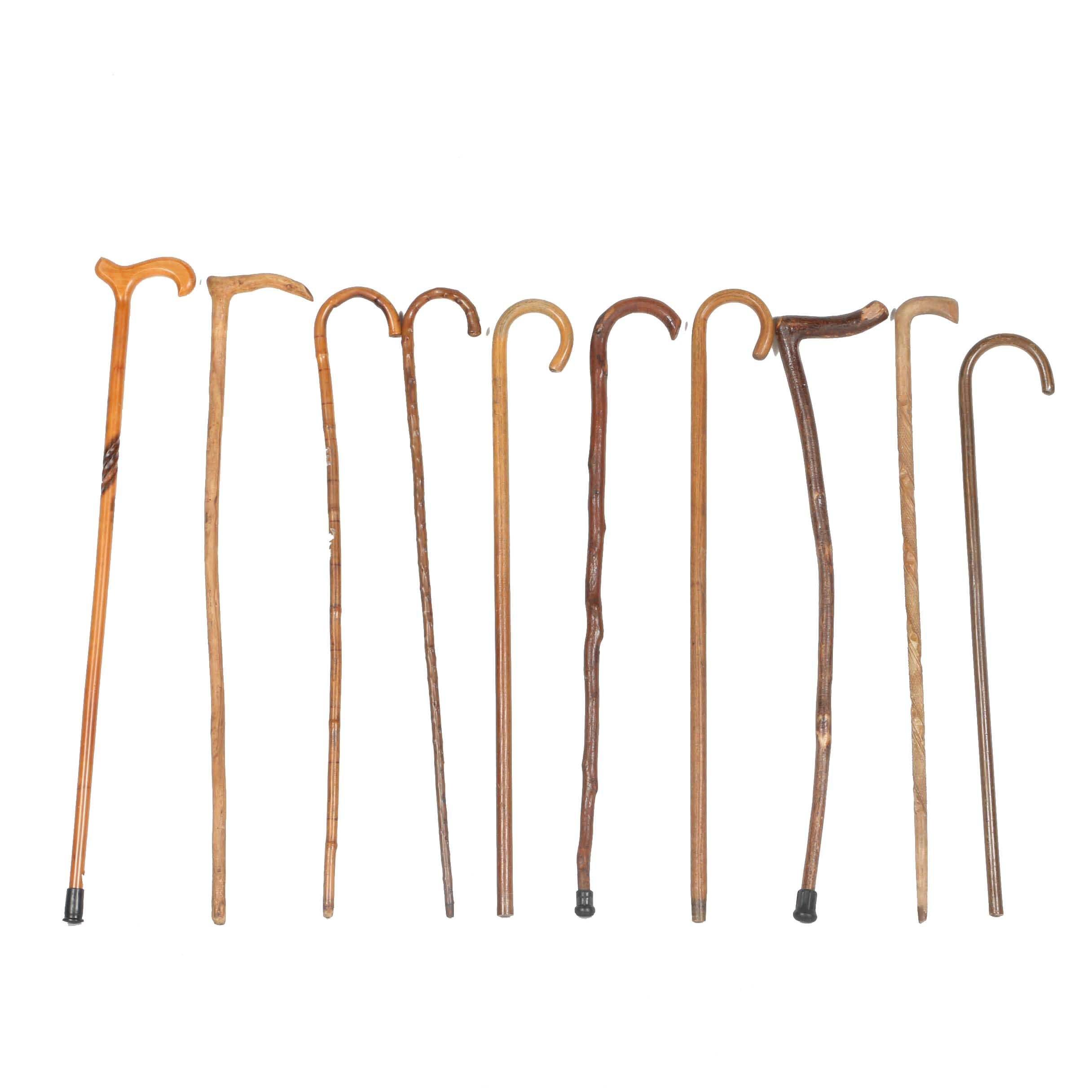 Assorted Wood Walking Canes