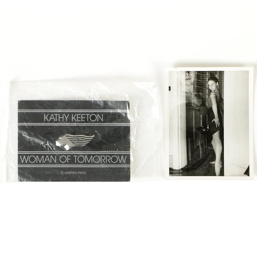 Kathy Keeton 1950s Photo and 1980s Woman of Tomorrow Pin