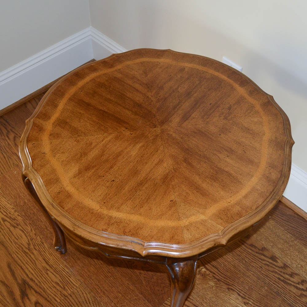 French Country Style Round Side Table Ebth