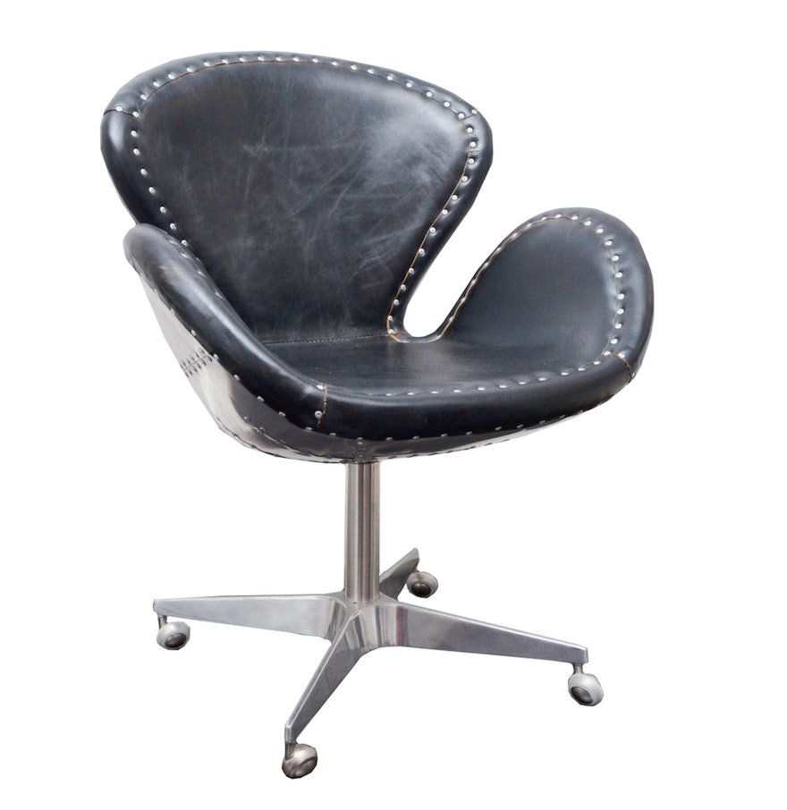 Office Chair Leather Devon Spitfire Leather Office Chair Ebth