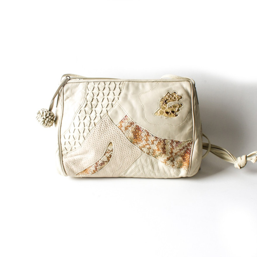 Vintage Sharif Snakeskin Shoulder Bag
