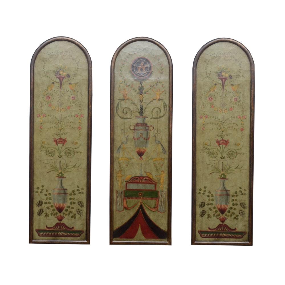 Trompe l'oeil Triptych Panels