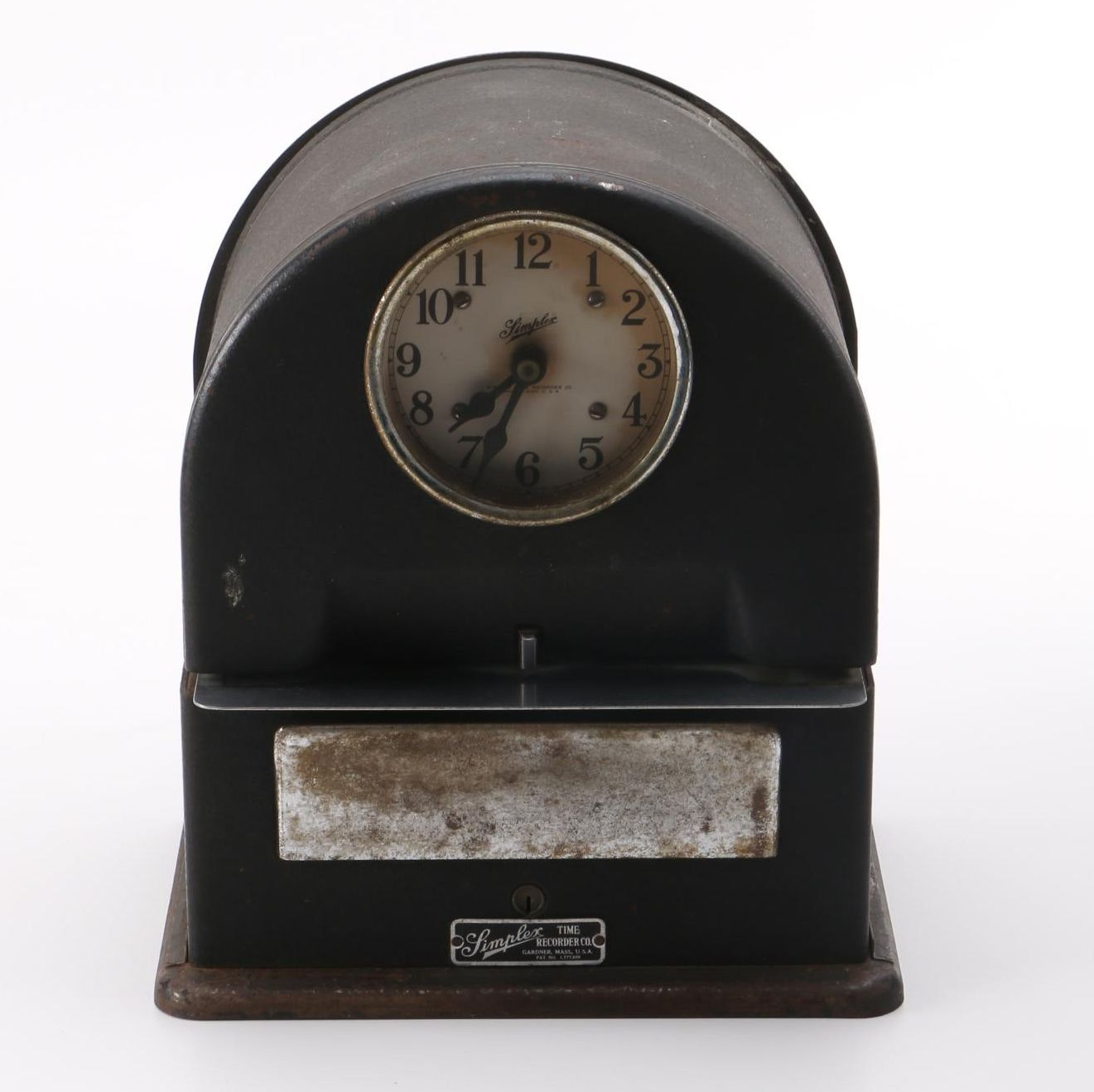 Simplex Vintage Metal Punch Clock