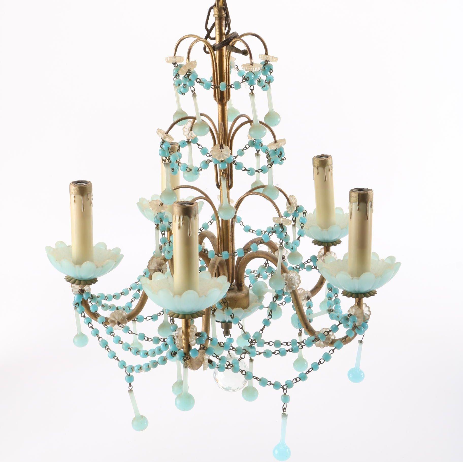 Vintage Romantic-Style Beaded Chandelier