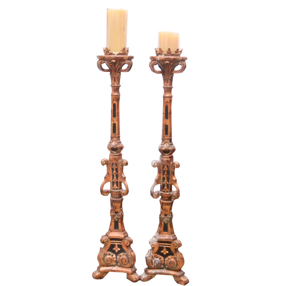 Resin Floor-Length Candle Holders