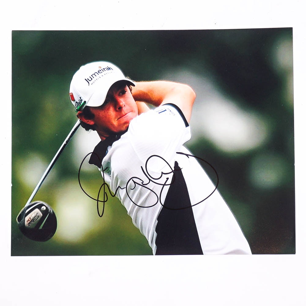 Rory McIlroy Autographed Photograph