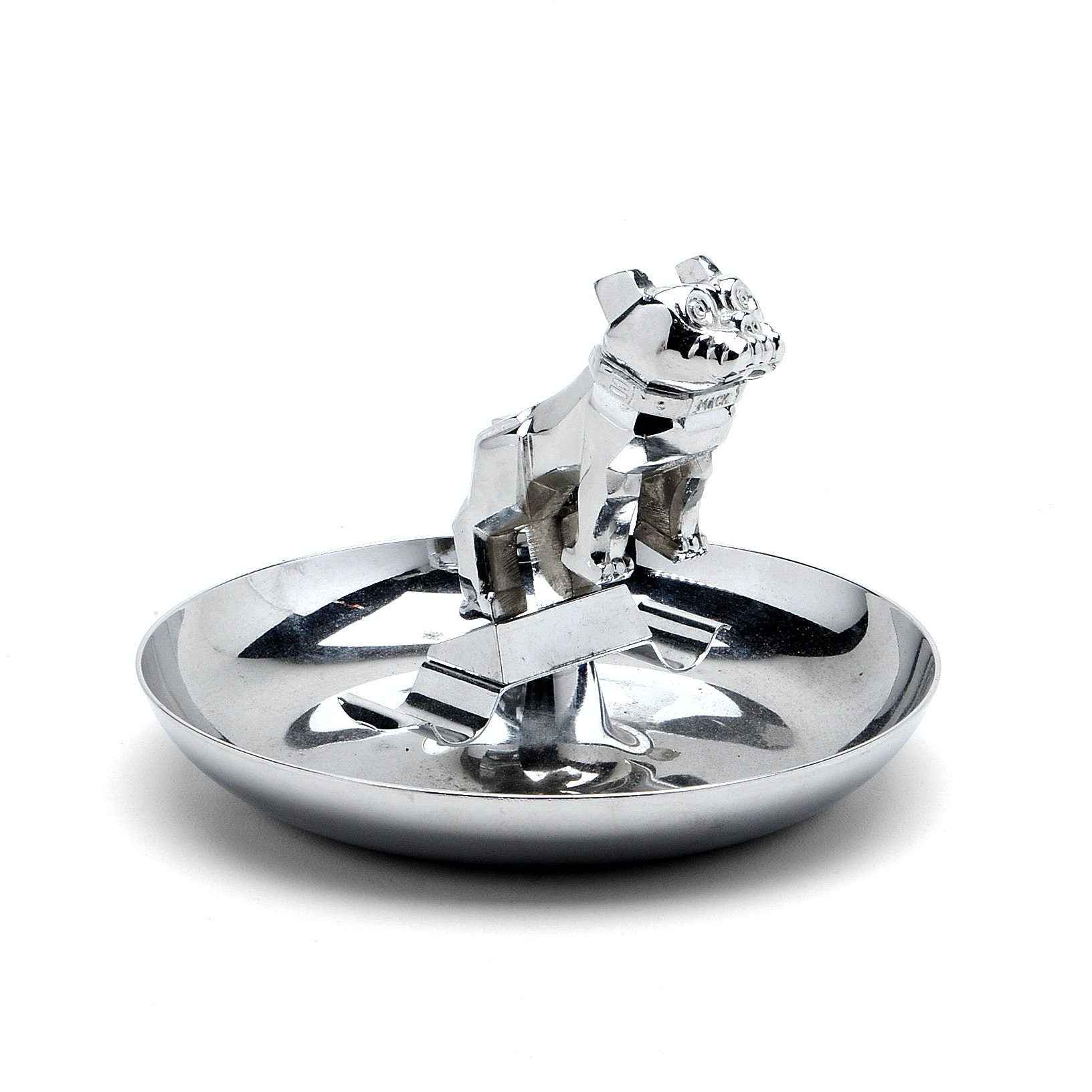 "1950s Mack Truck ""Bull Dog"" Chrome Ashtray"