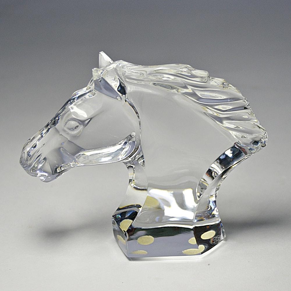Baccarat Crystal Horse Head