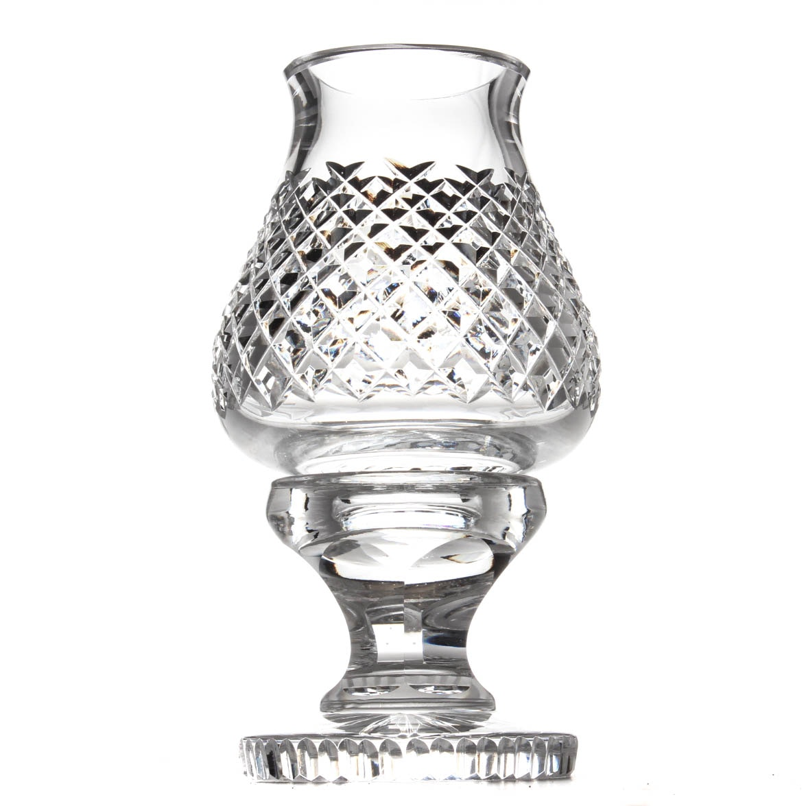 "Waterford Crystal ""Alana"" Pattern Hurricane and Globe"