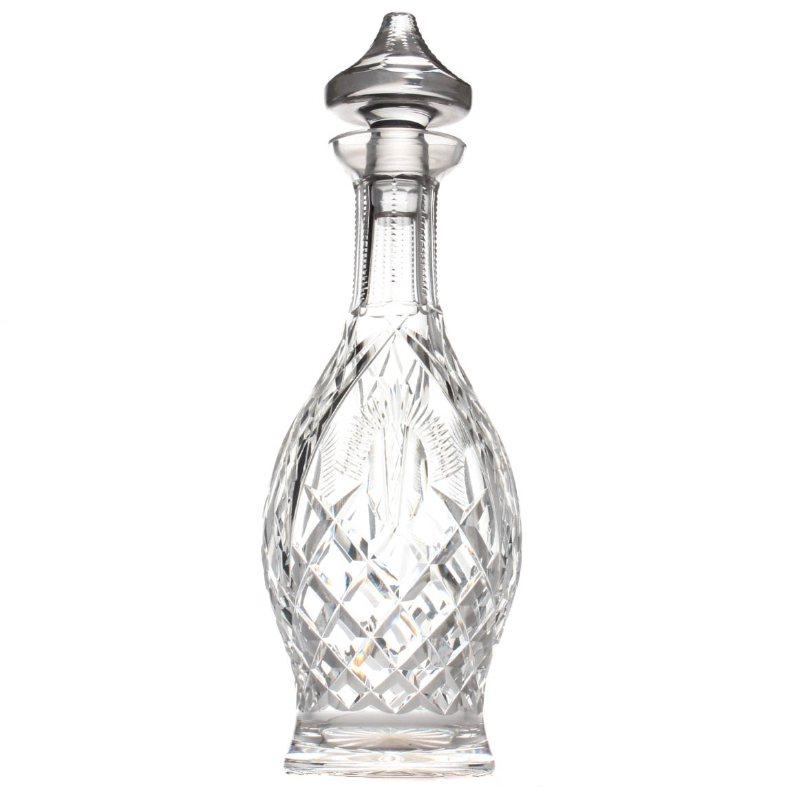 "Vintage Waterford Crystal ""Shannon Jubilee"" Wine Decanter"