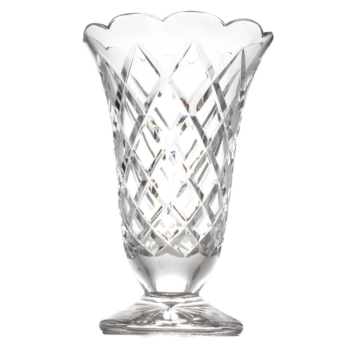 Waterford Crystal Large Footed Vase