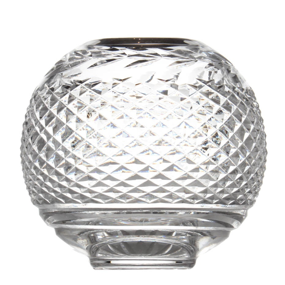 Vintage Waterford Crystal Round Globe Vase