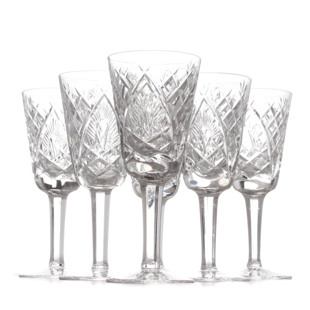 "Waterford Crystal ""Shannon Jubilee"" Sherry Glasses"