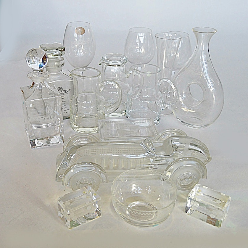 Fine Crystal Car Racing Trophies with Tiffany, Daum and Waterford