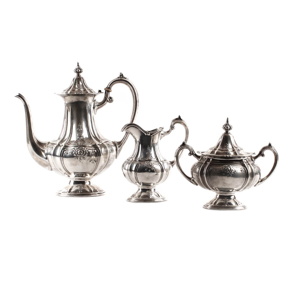 Fisher Sterling Silver Three-Piece Coffee Service