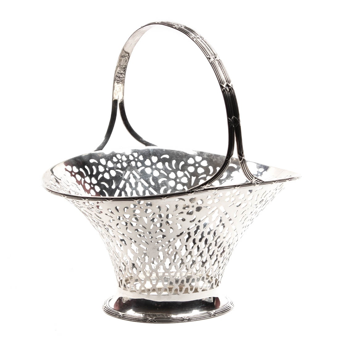 Roger Williams Silver Co. Sterling Silver Openwork Basket