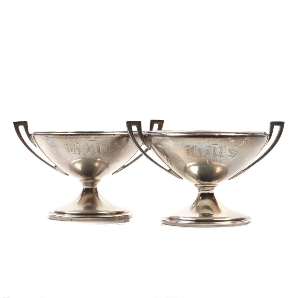Gorham Coin Silver Pedestal Salt Dips