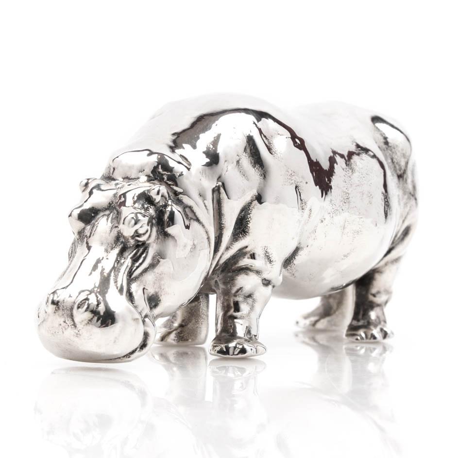 Sterling Silver Hippopotamus Figure