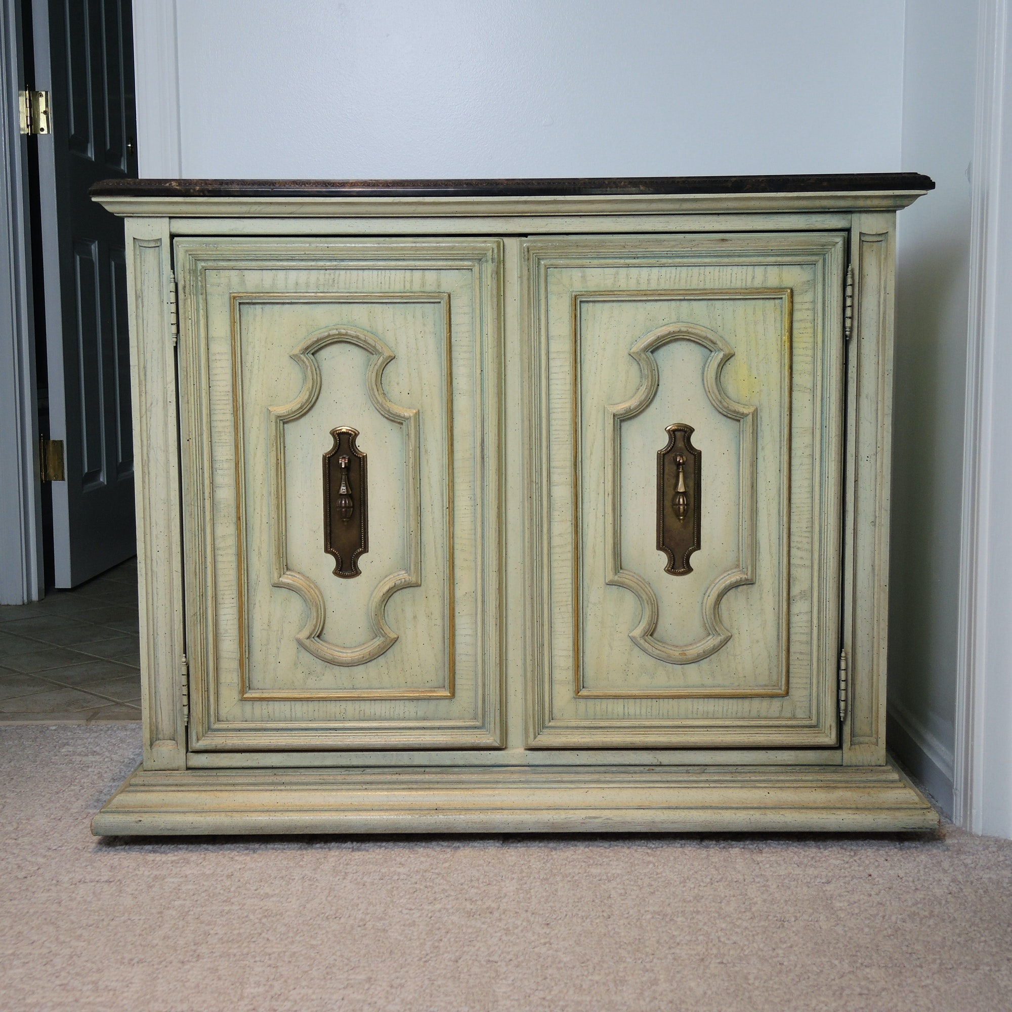 Stanley Marble Topped Cabinet