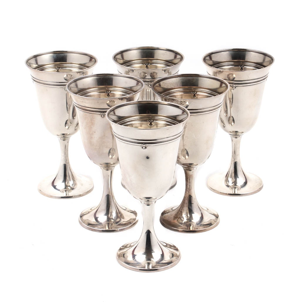 "Gorham Sterling Silver ""King Albert"" Chalices"
