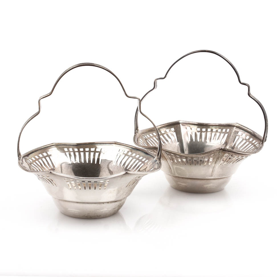 Sterling Silver Basket Pair