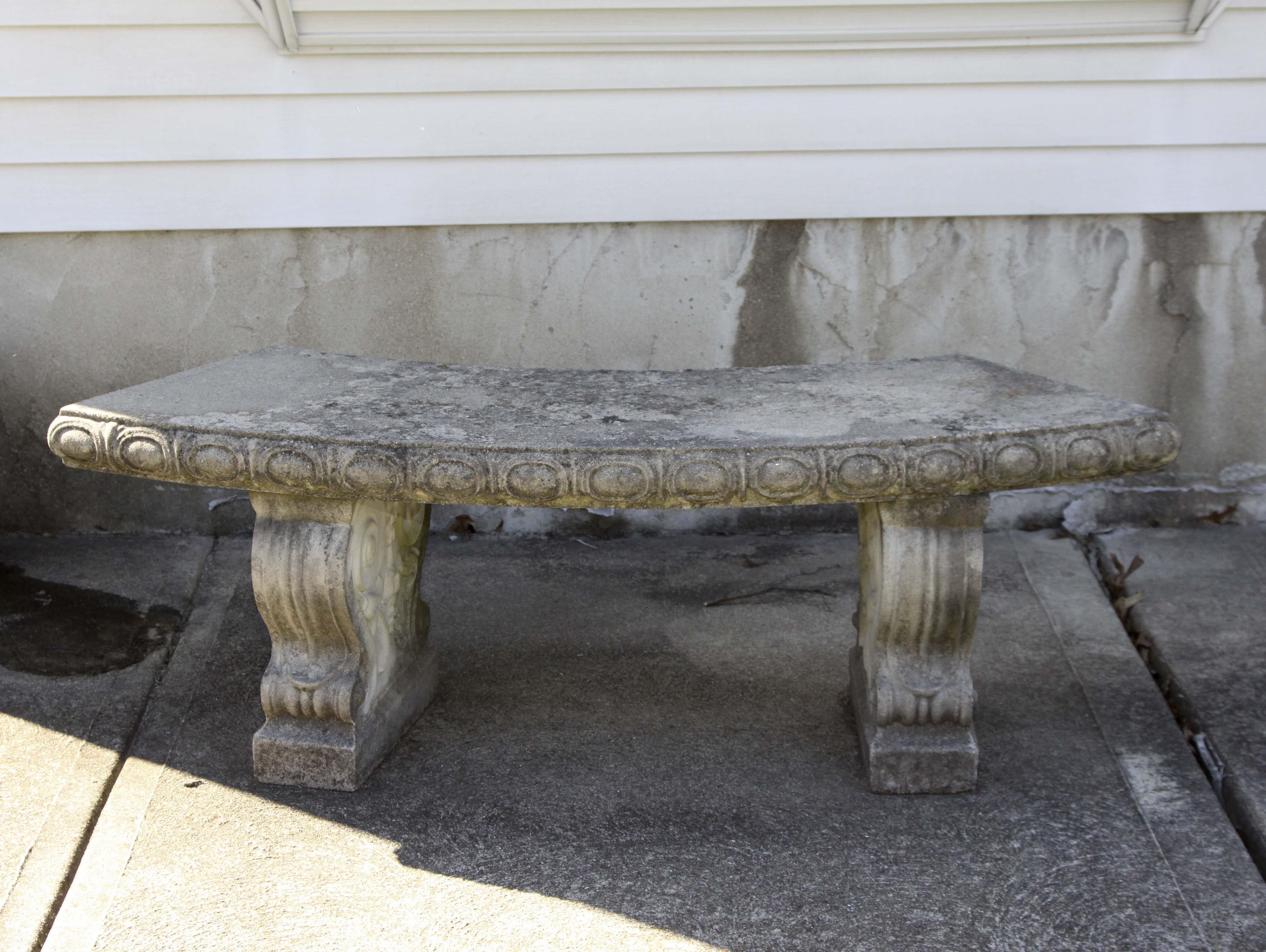 Concrete Garden Bench EBTH