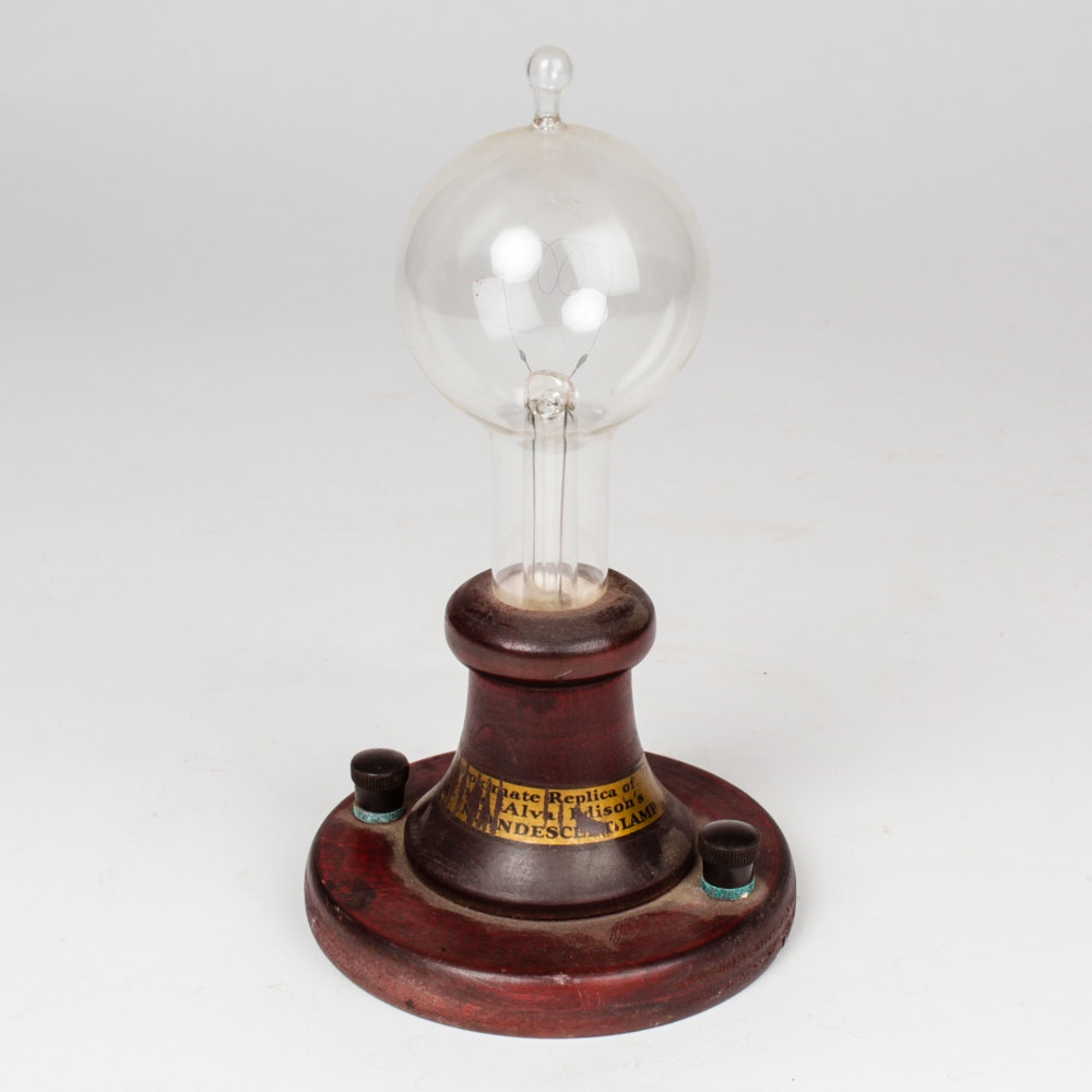 Replica Of Edison S First Light Bulb Ebth