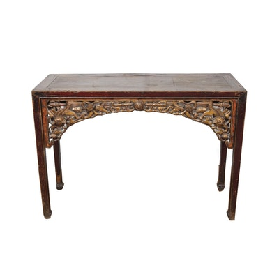 Chinese Accent Table - Online Furniture Auctions Vintage Furniture Auction Antique