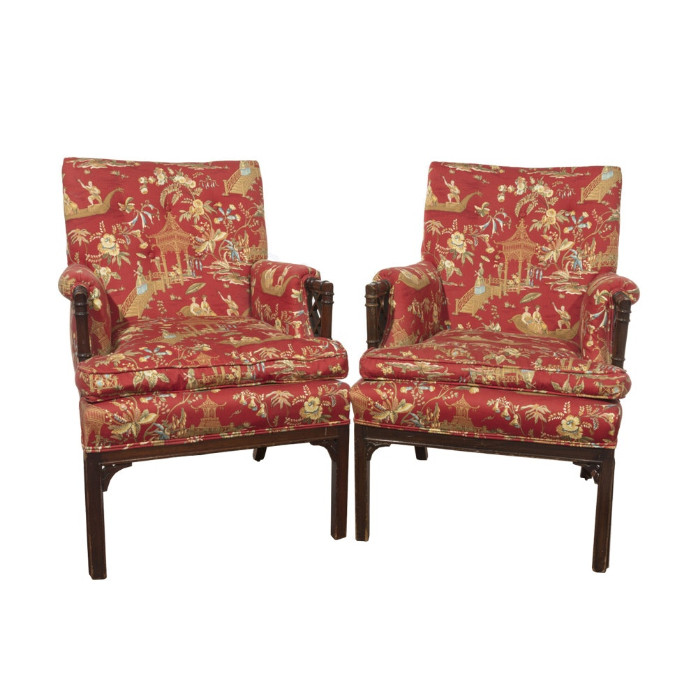 Late 20th Century Asian-Inspired Arm Chairs
