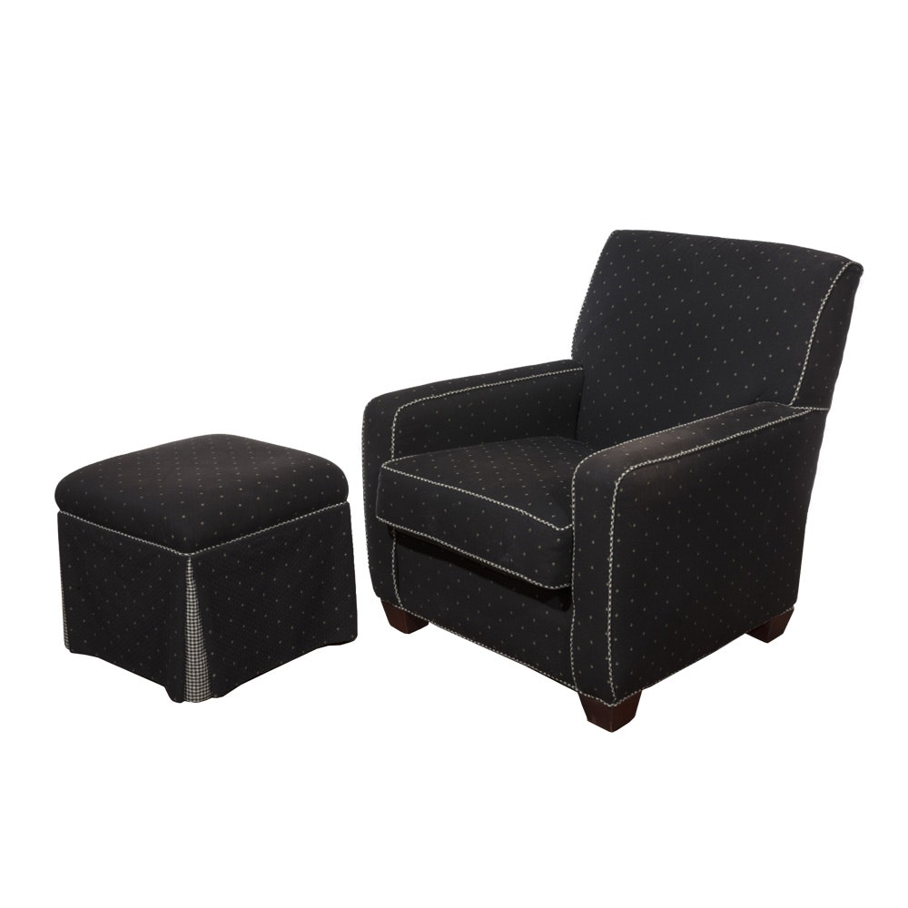 Contemporary Club Chair and Ottoman