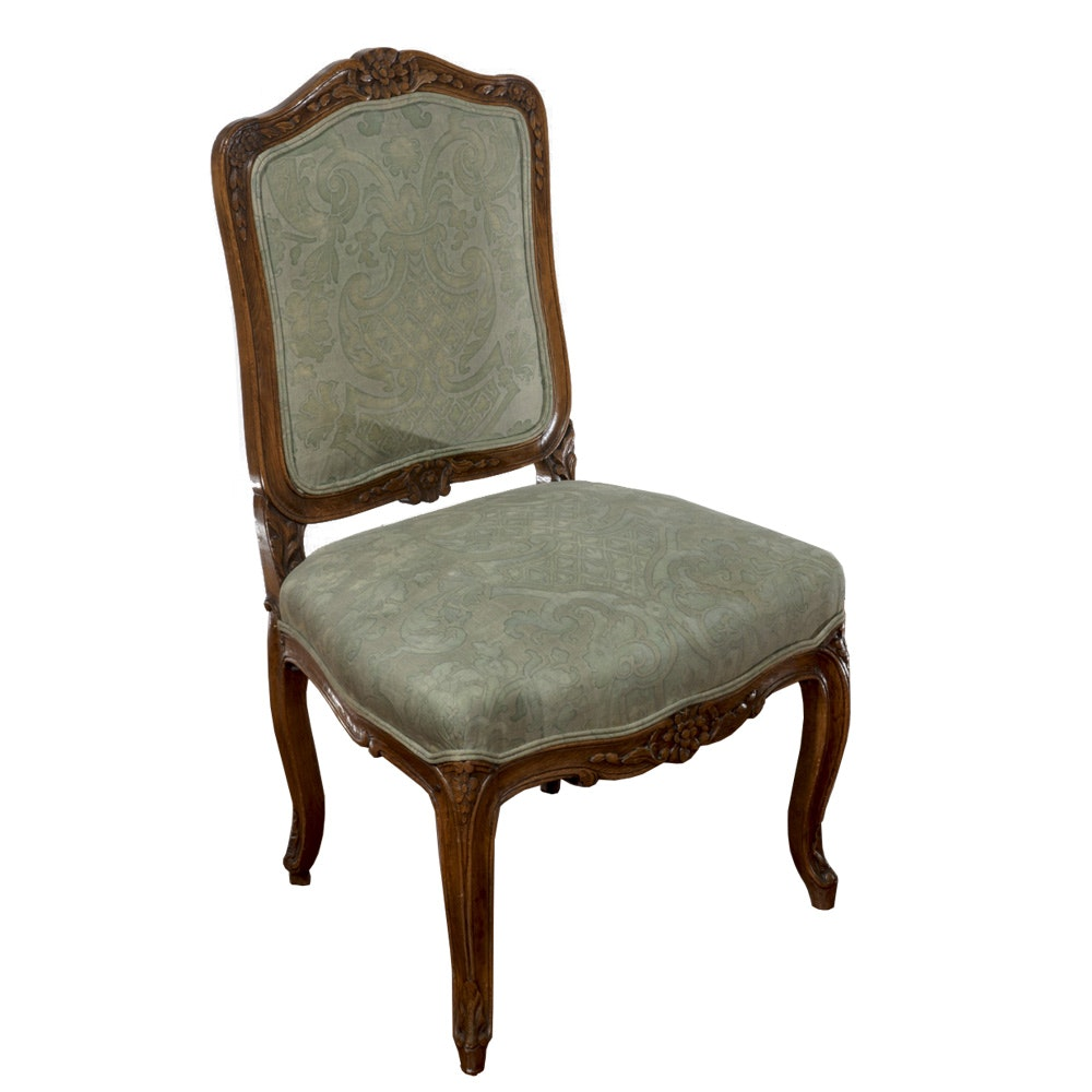 French Provincial Style Upholstered Accent Chair
