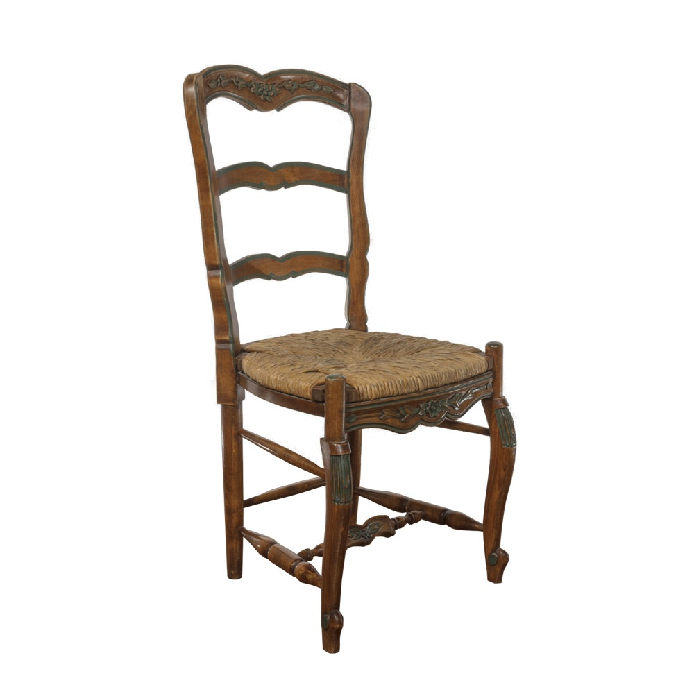 Mid 20th Century French Country Ladder Back Chair