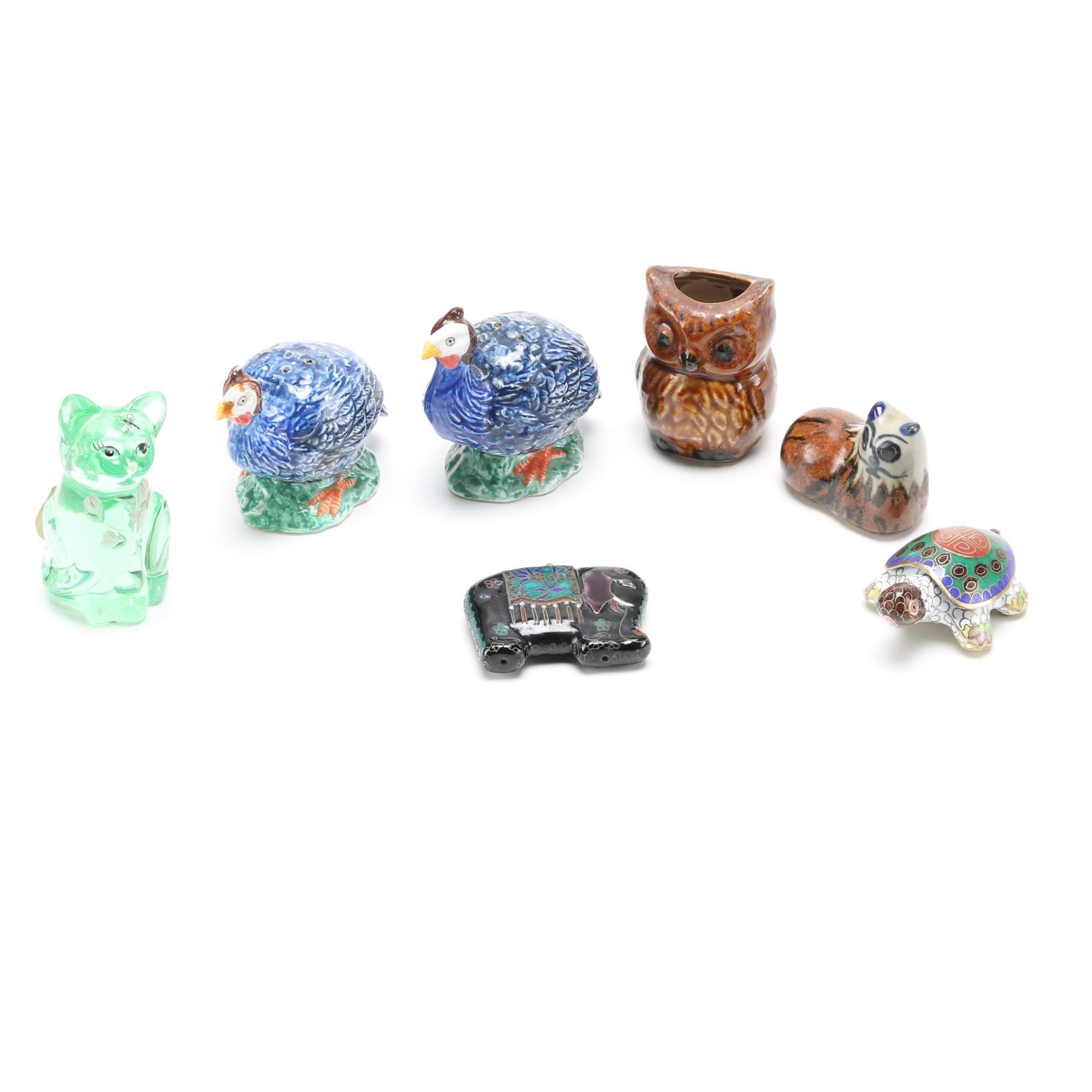 Animal Decor Assortment Featuring Fenton Glass