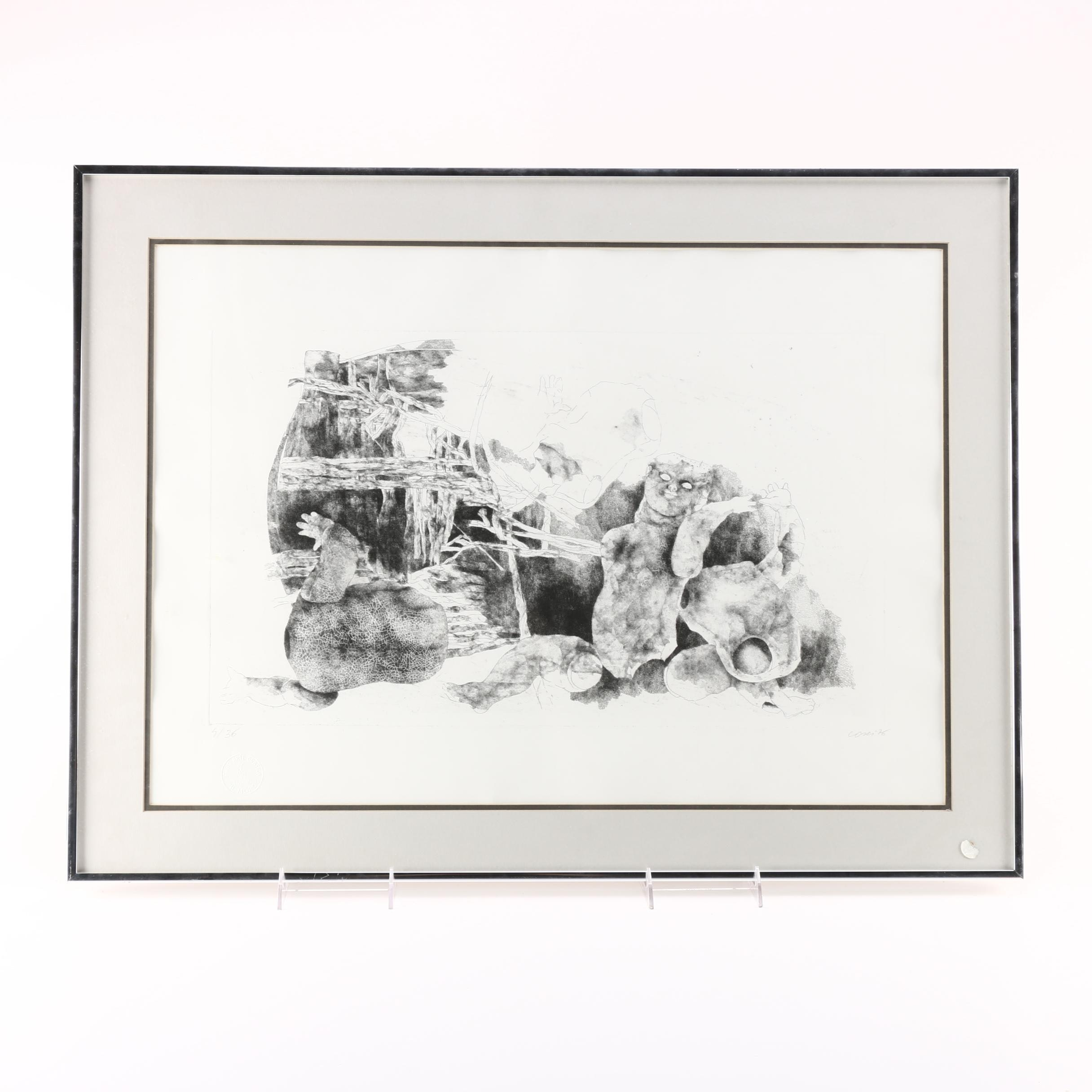 Cosei Limited Edition Etching of Baby Dolls