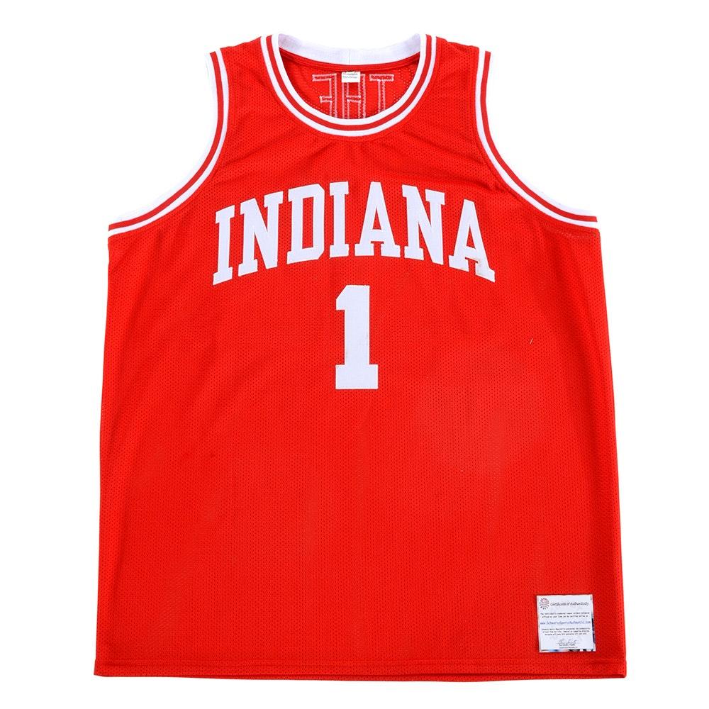 Bobby Knight Signed Indiana Jersey  COA