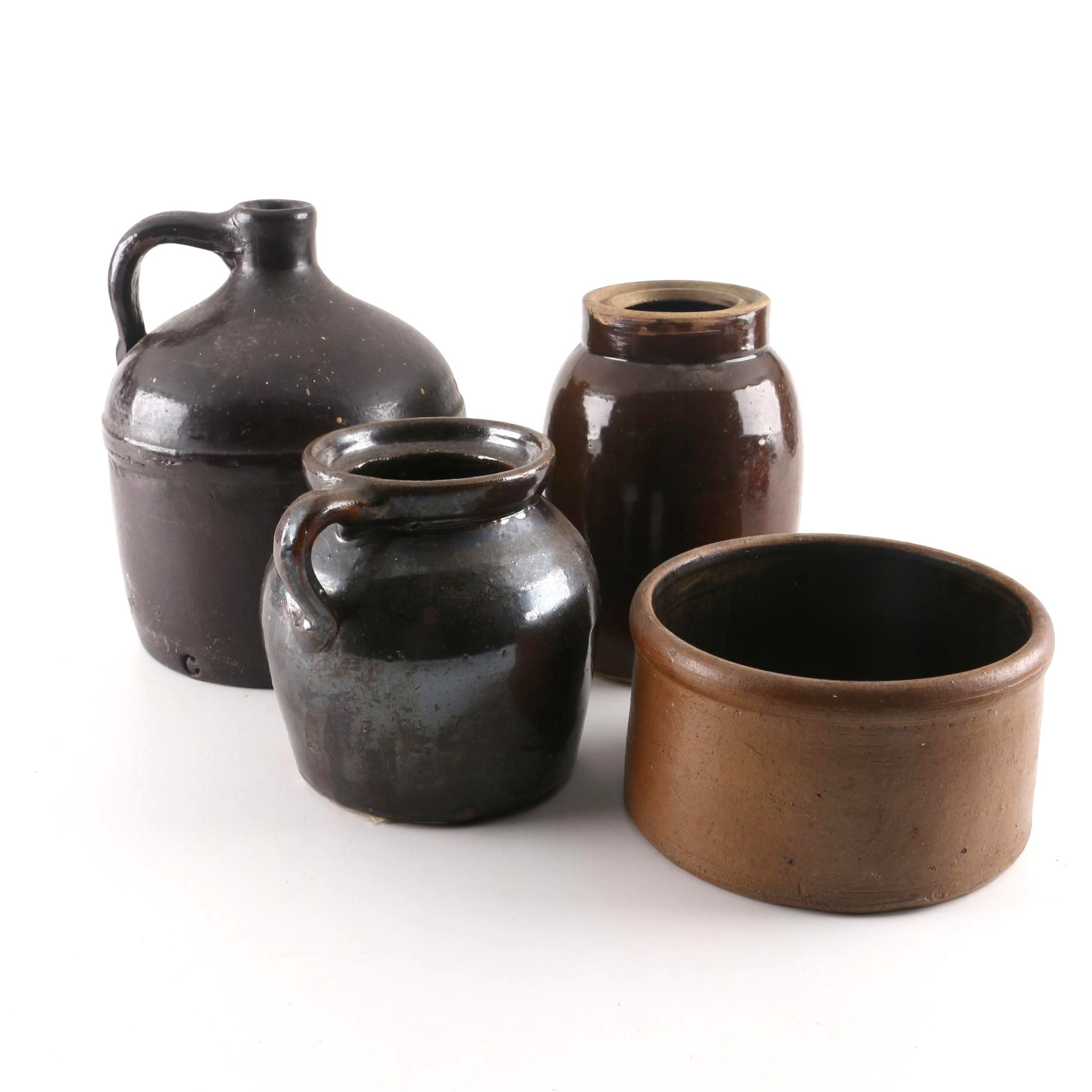 Collection of Vintage Stoneware Pottery