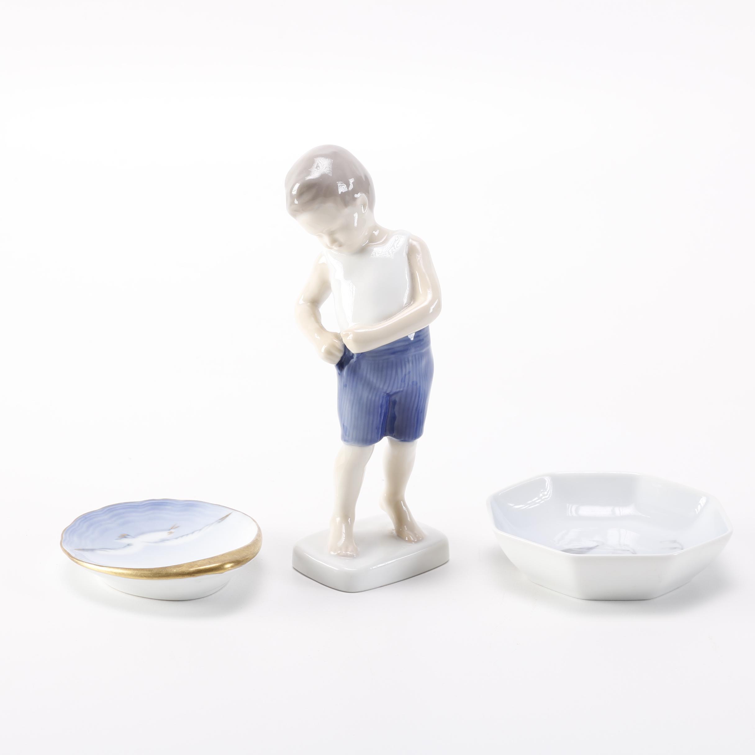 "Bing & Grøndahl Porcelain ""Boy Buttoning His Trousers"" Figurine"