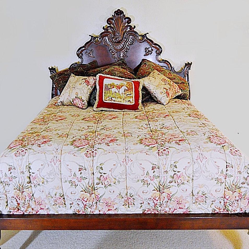 Ralph Lauren Victorian Style Queen Size Bed with Linens