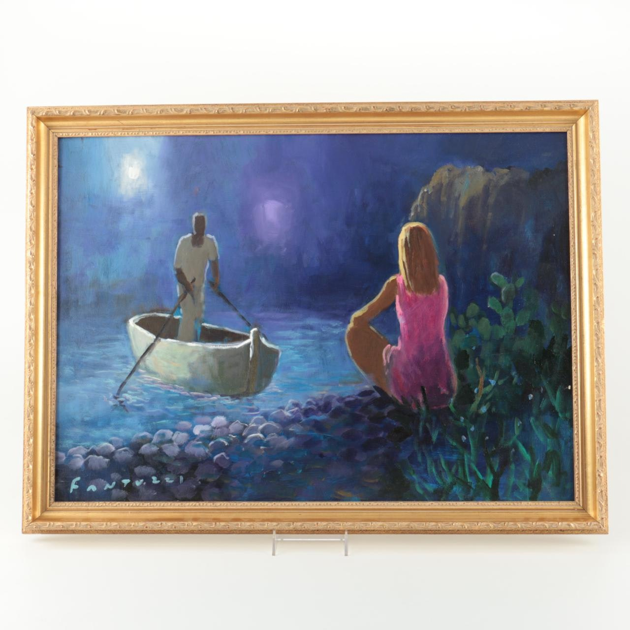 Eliano Fantuzzi Original Oil Painting on Canvas