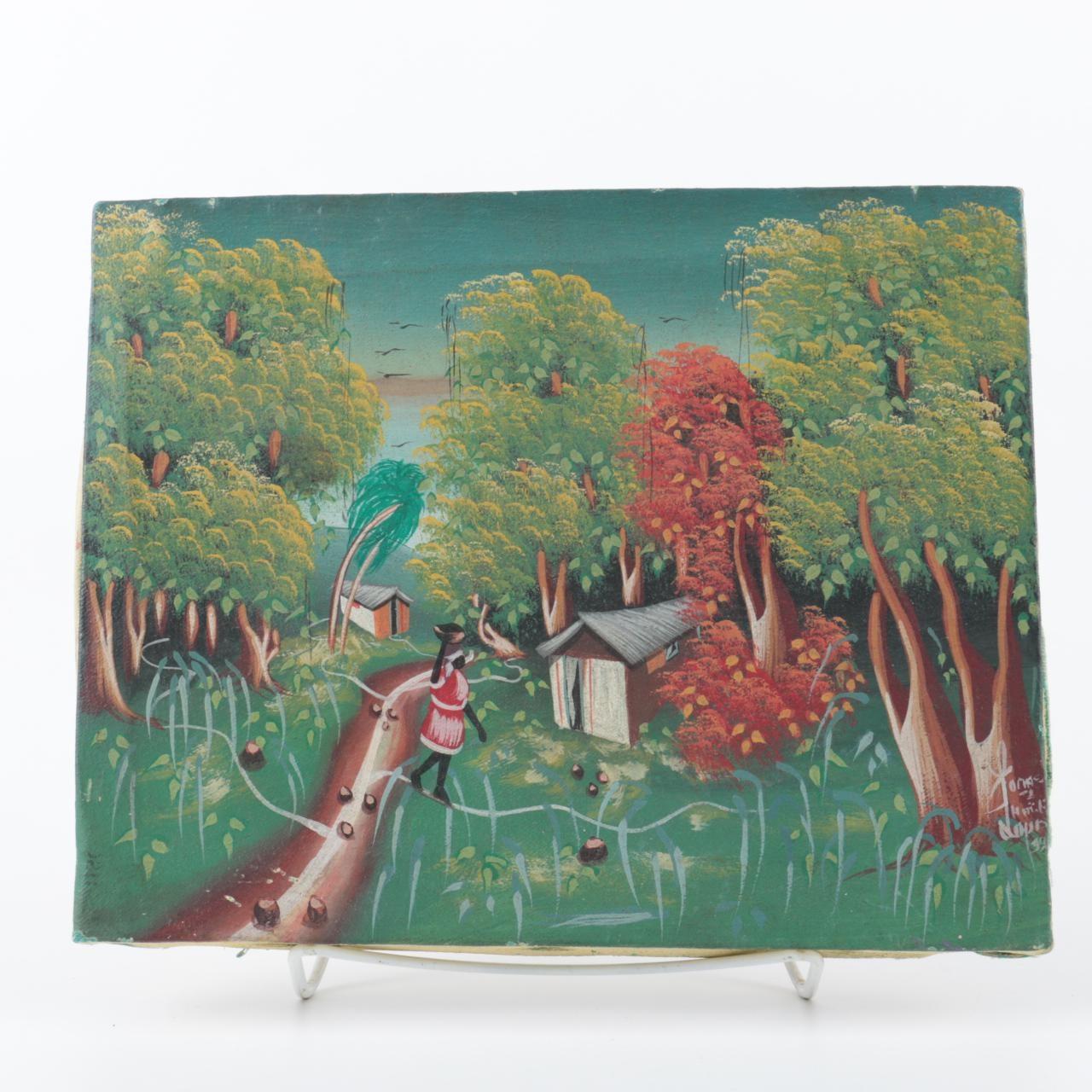 Original Oil Painting on Canvas Jungle Scene